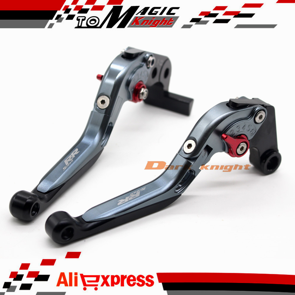 Motorcycle accessories cnc adjustable folding extendable brake clutch levers for bmw s1000rr 2010 2015