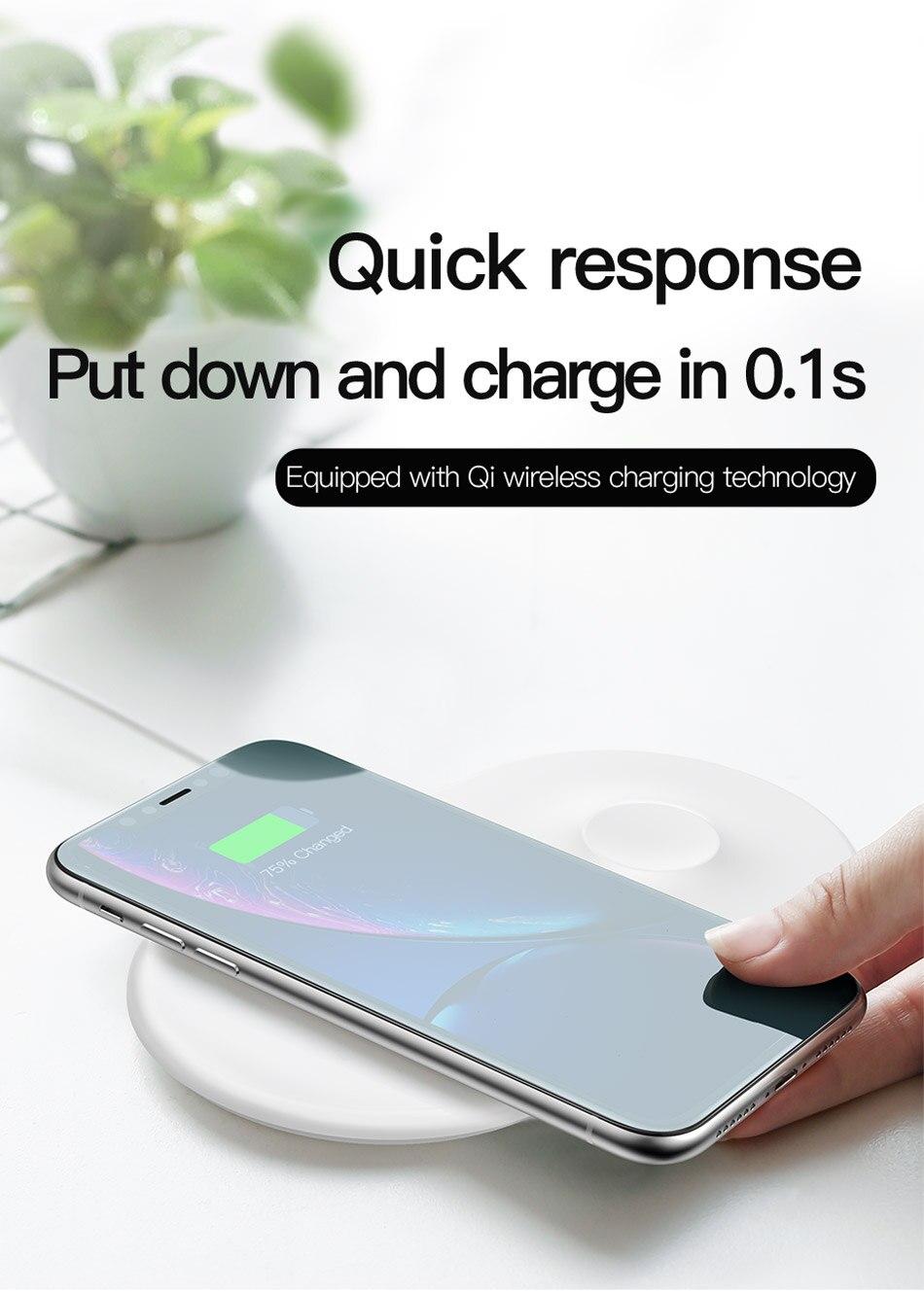Baseus Carregador Wireless Charge 2 em 1 Apple Watch Iphone