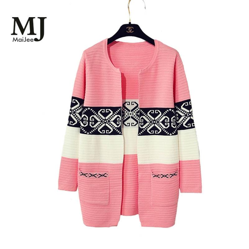 Zimní ženy Kardigan Feminino Gilet Femme Kašmírový svetr Manche - Dámské oblečení