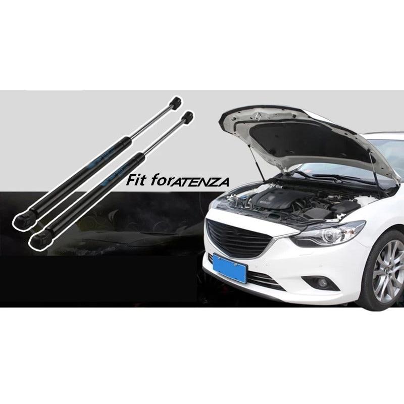 2 pcs Fit Pour ATENZA 2014-2017 Automobile capot hydraulique barre de support moteur couverture Polonais Capot soutien de voiture accessoires