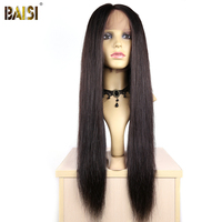 BAISI Brazilian Hair Lace Front Wigs Straight with Pre Plucked nature hairline with 200% density Pre plucked Free Shipping