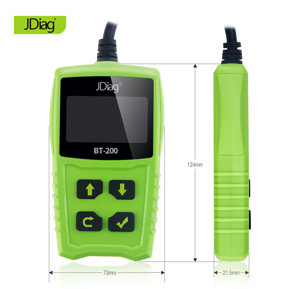 2018 JDiag FasCheck BT200 Car Battery Life Detector 12V Auto Battery Tester Voltage CCA Analyzer Automobile Diagnostic Scan Tool ninth world new handheld storage battery tester car analyzer digital 6v 12v voltage capacity