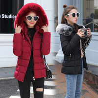 Fashion women's down jacket Raccoon Fur large fur collar slim collar short section thick winter jackets for women coat
