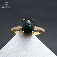 TBJ,Black Ethiopian Opal Oval cut 6*8mm  natural gemstone classic ring in 925 sterling silver gemstone jewelry with gift box tbj feather gemstone ring with natural ethopian opal good fire in 925 sterling silver fine jewelry for girls with jewelry box