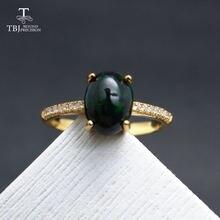 Женское кольцо с драгоценным камнем tbj украшение черным эфиопским
