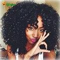 Big Promotion Mongolian Kinky Curly Virgin Hair With Closure 7a Kinky Curly Virgin Hair With Closure 4 Bundles Angel Grace Hair