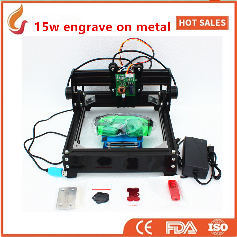 15W DIY Laser Engraving Machine ,big Power Laser Engraver,metal Carving Marking Machine,metal Engraving Machine Mark On Dog Tag