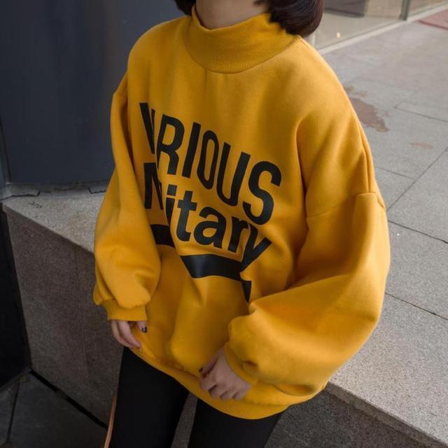 Sudaderas Mujer 2018 Mujer Sudadera con capucha amarilla