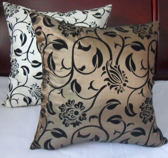 Fast NEW Free shipping man made silk cushions Modern style back pillow chair waist rest cushions18'18'