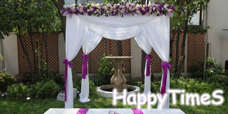 2*2*3 m Beatiful Wedding Decorazioni Esterne Bianco Baldacchino Tenda Con Fiori Banchetto Reception Hall Con Il Basamento