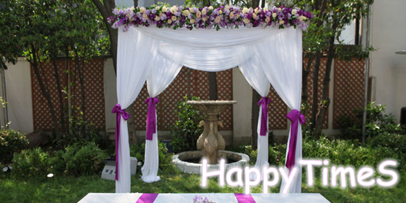 223m Beatiful Wedding Outdoor Decorations White Canopy Curtain
