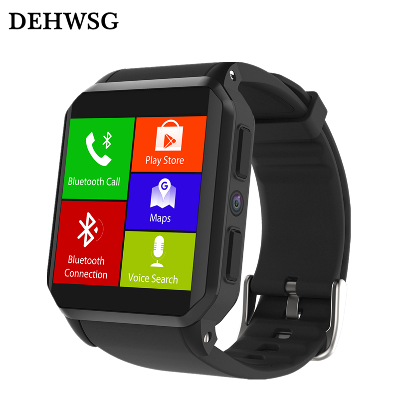 DEHWSG IP68 Waterproof smart watch KW06 Android watch phone MTK6580 Quad Core smartwatch 3G+WiFi+GPS Heart Rate Monitor Camera