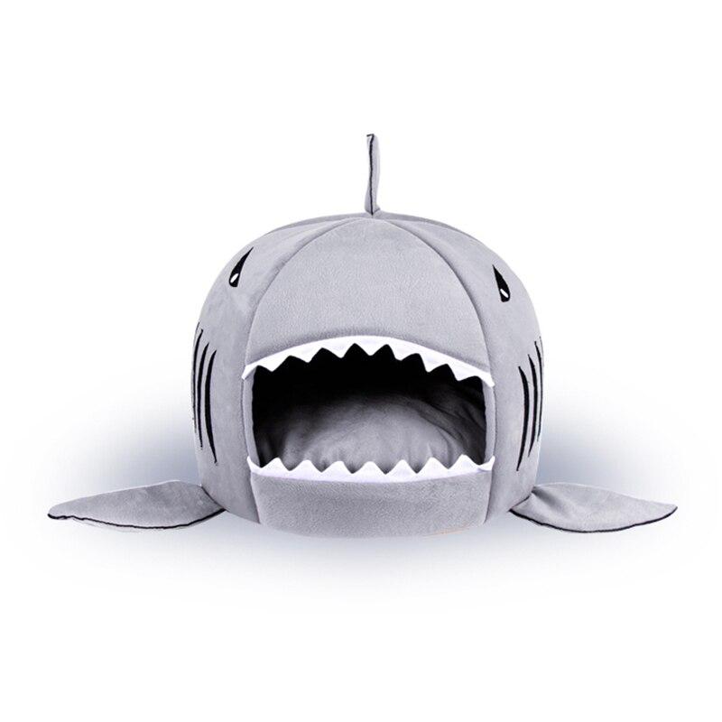 New 4 Size Shark Warm Dog House Pet Warm Soft Cat puppy Sleeping Bed Shark Dog Kennel Bed Cat House cama de para cachorro