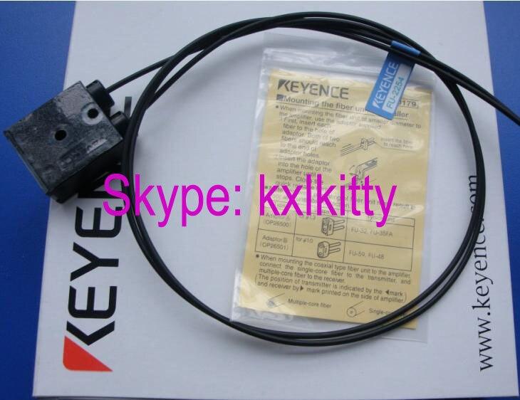FU-2254  KEYENCE Digital optical fiber sensor dhl ems 2 lots new keyence fu 34 transmissive fiber optic sensor switch