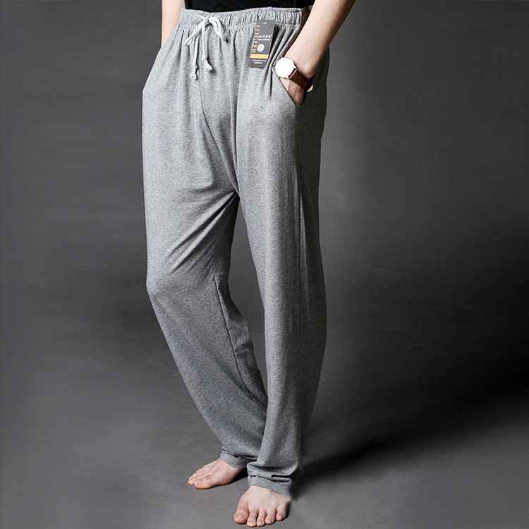 Men's Lounge Pants Soft Modal Thin Sleep Bottoms Environmental Dyeing Loose Casual Pajamas Suit For The Four Seasons