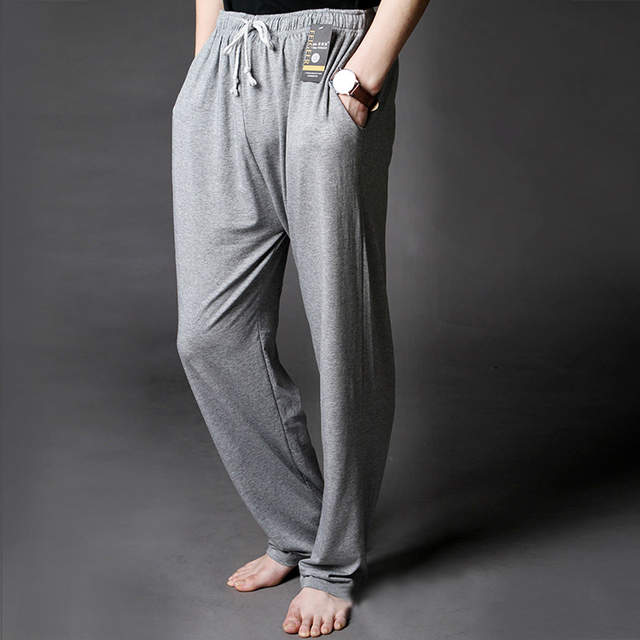 1e68f27ad94 Men s Lounge Pants Soft Modal Thin Sleep Bottoms Environmental Dyeing Loose  Casual Pajamas Suit For The