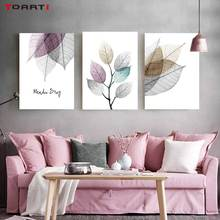 Watercolor Abstract Leaf Canvas Paintings On The Wall Nordic Posters Prints Minimalist Wall Art Pictures for Living Room Bedroom