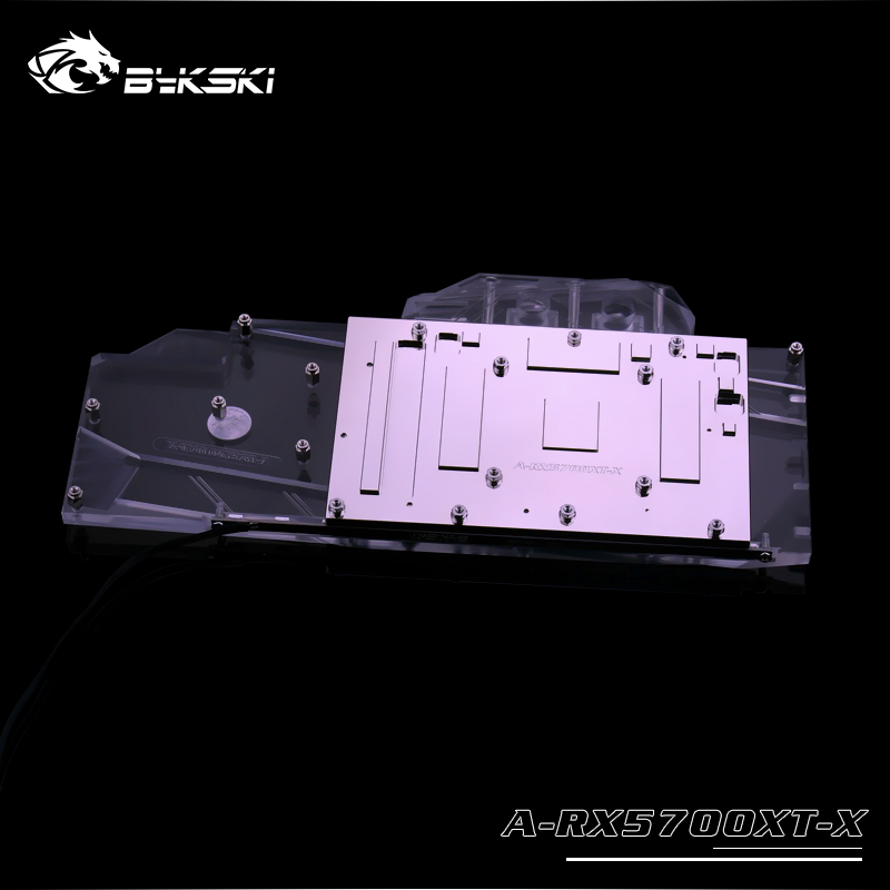 Bykski uso de bloques de agua para AMD Radeon RX 5700/5700XT Tarjeta de GPU/cubierta completa bloque de radiador de cobre/ 3PIN 5V A-RGB/4PIN 12V RGB - 5