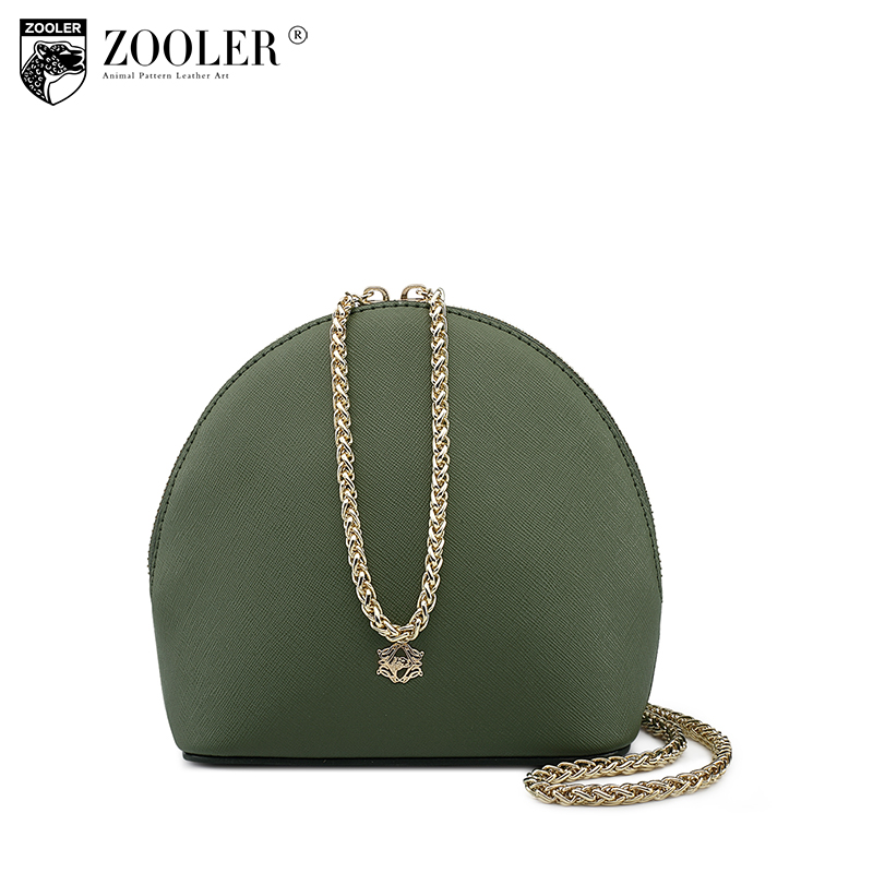 ZOOLER brand genuine leather crossbody bag for women 2017 Mini Bag With Shell Shape women messenger bags fashion style A103 fashion women mini messenger bag pu leather shell shape bag crossbody shoulder bags with deer toy popular