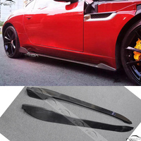 Car Styling JCA Style Carbon Fiber Side Skirts Bodykits Apron For Jaguar F type Coupe 2 Door 2015 2017