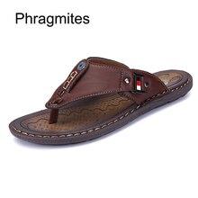 Phragmites New Arrival Summer Beach Slippers Light Weight Breathable Flip Flops Flat Men Shoes Factory Zapatos De Hombre