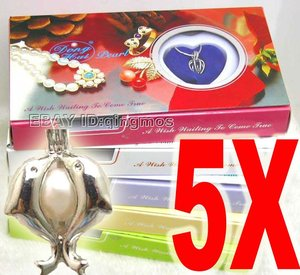 Popular gift SALE 5 of different pendants Love Wish Pearl necklace gift set -who3622 Wholesale/retail