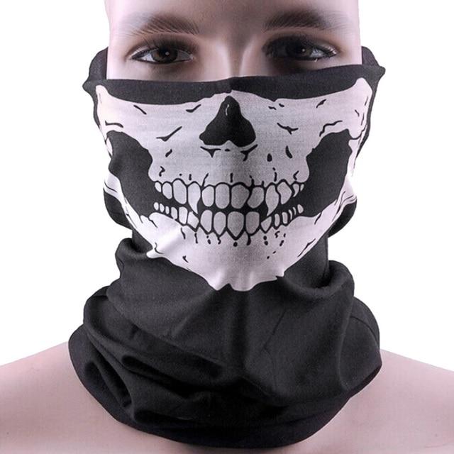 Men Scarf Halloween Ride bandana Women Headscarf Ski Skull Half Face Mask Ghost Scarf Neck Hiking Scarves Cuello Balaclava Masks 1