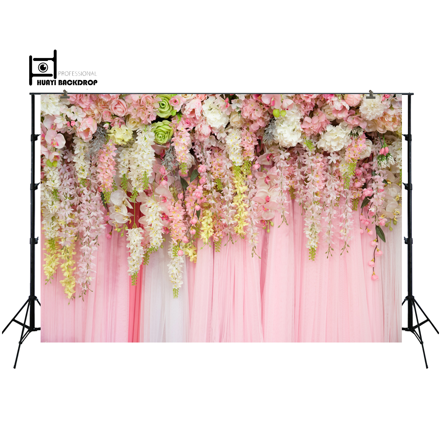 цены Wedding backdrop flowers wall photography background,birthday party baby shower decor banner floral photo backdrop props XT-6740