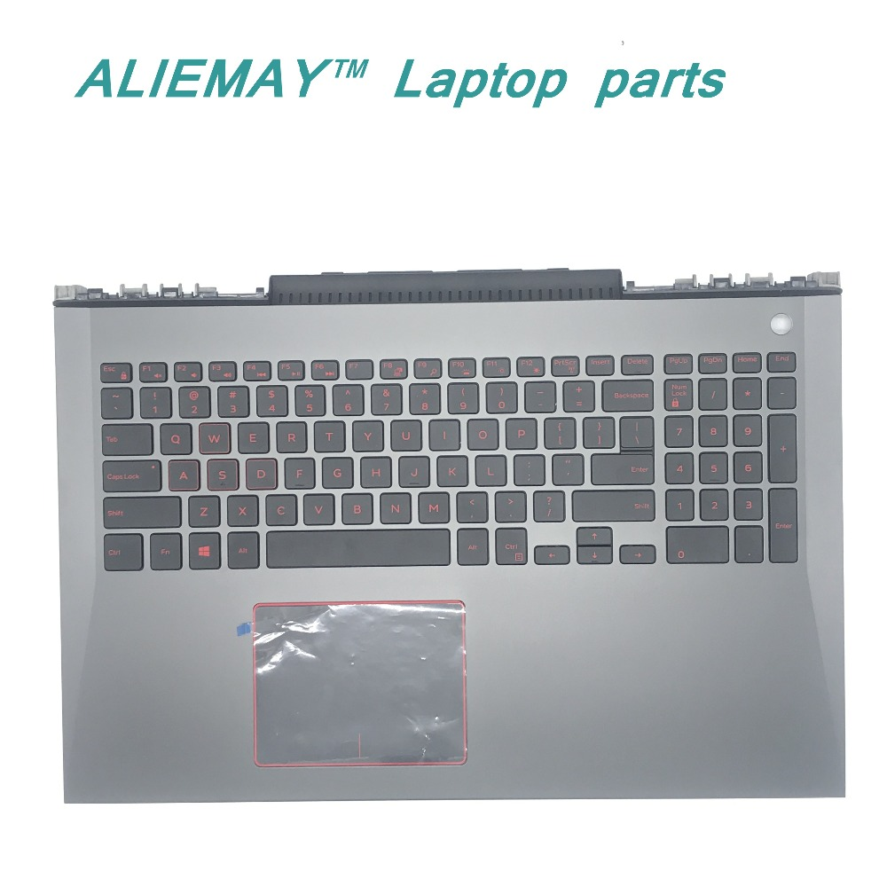 Brand New orig laptop case for DELL Inspiron MASTER 7577 7587 layout US RED Backlit Keyboard and touchpad palmrest  T08KT 0T08KT new laptop keyboard for ibm thinkpad e550 e555 e550c e560 e565 french belgian dutch deutsch german swiss turkish us layout