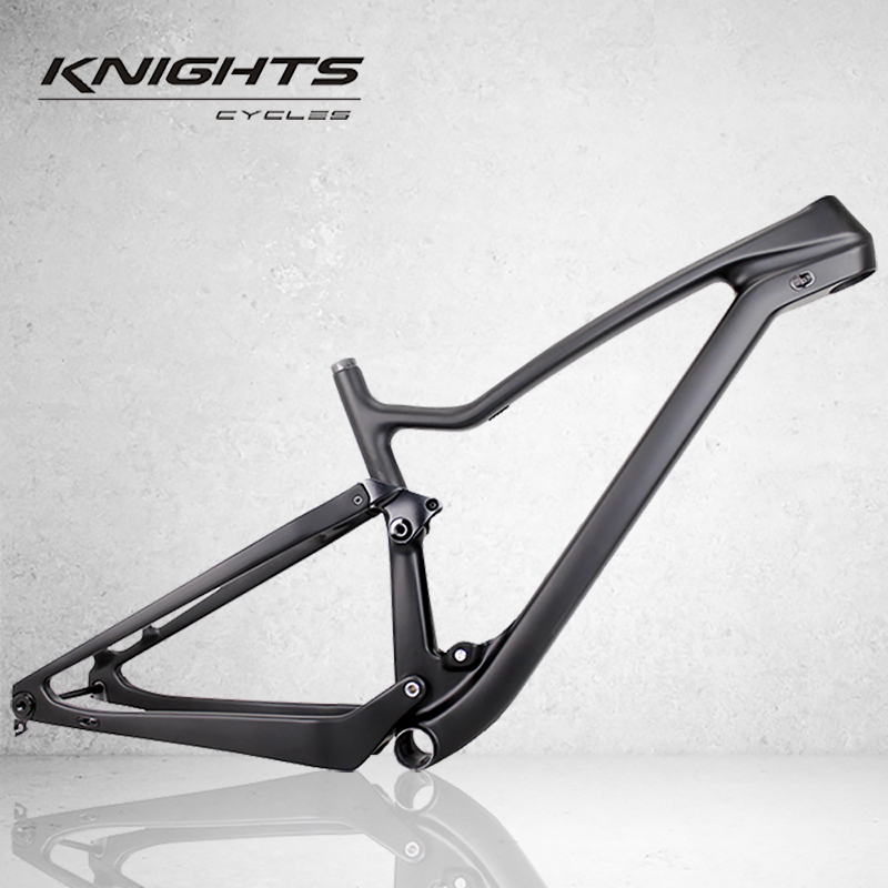 Free shipping Hot sales Full suspension frame 27.5er Boost and 29er Boost carbon bike frame XC 29er frame with inner cables(China)