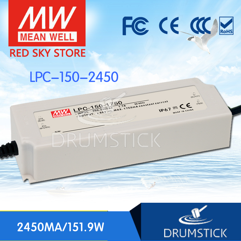 100% Original MEAN WELL LPC-150-2450 62V 2450mA meanwell LPC-150 62V 151.9W Single Output LED Switching Power Supply [Real6]