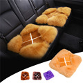 Winter Warm Wool Fur Heater Pad Heating Fashion Car Seat Warmer Soft Seat Cushion X Style Car Cushion for Car Styling On Sale
