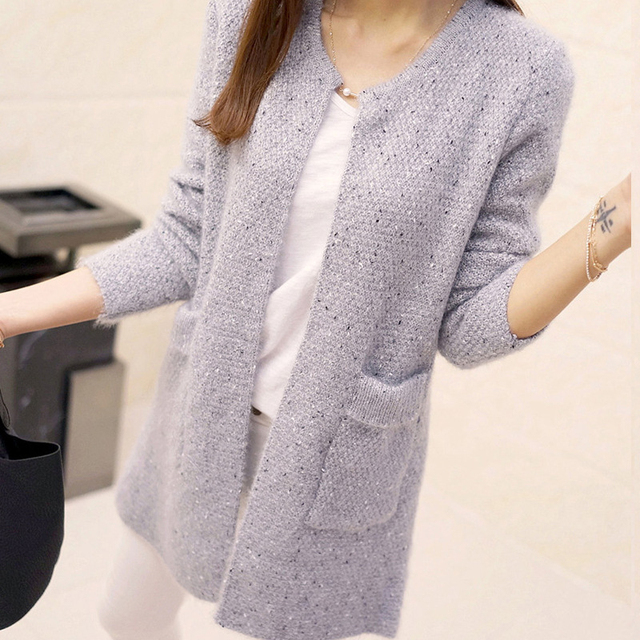 7d4e9fd96 Fall Fashion 2018 Woman Casual Cardigan Sweater Ladies Long Sleeve Crochet  Jacket Cardigan Women Knitted Warm Sweaters Tops