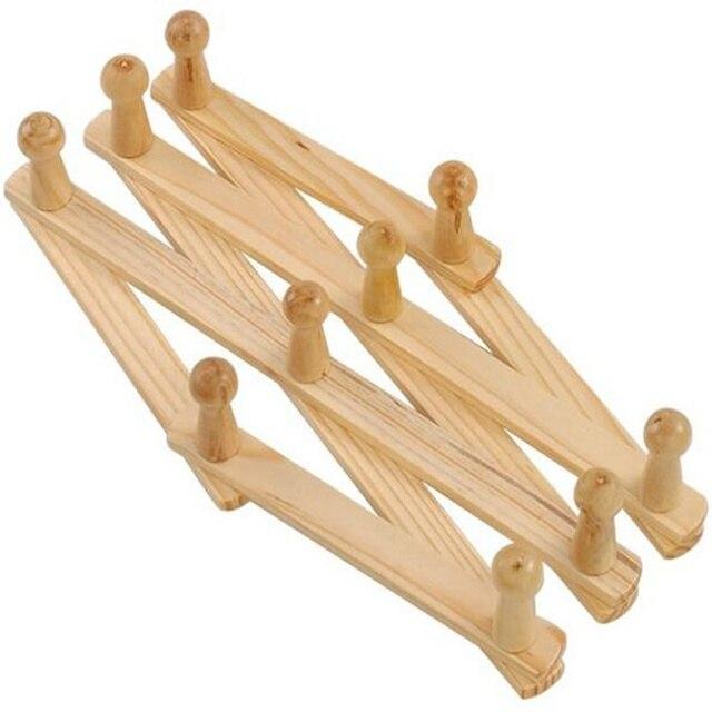 High quality wood wall hangers bracket folding clothes hooks ...