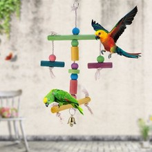 Parrot daily necessities-toys gnawing station racks toys-Decorative birdcage,Beautiful, easy to carry, durable,toxic free,safe