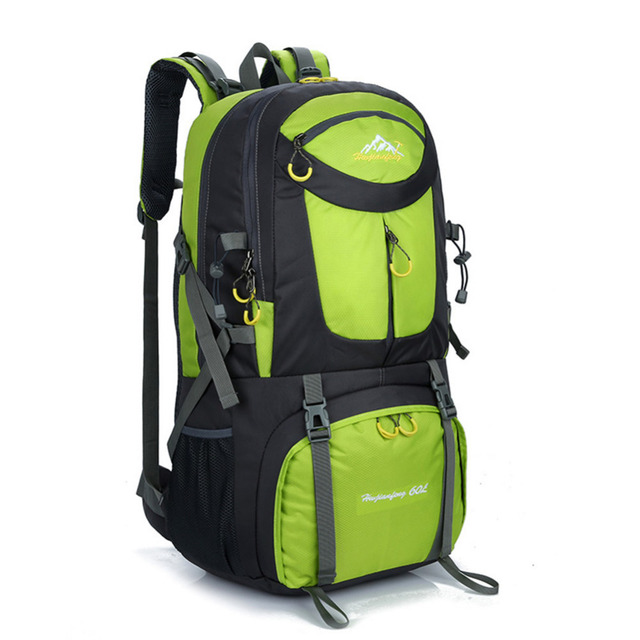 a73b38d4b3 60L Hiking Backpack Daypack For Men And Women Couple Nylon Waterproof  Camping Traveling Backpack Outdoor Climbing Sports Bag