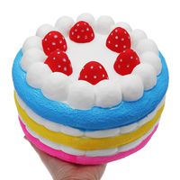 Original Big Strawberry Cake for Squishy Slow Rising Huge Kids Soft Kawaii Squishies Squeeze toy Home Decoration Squishe 25cm