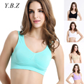 YBZ Women Bras Patchwork Wirefree Padded Seamless Bra Breathable One-Piece Cropped Top Bra Women Fitness Underwear