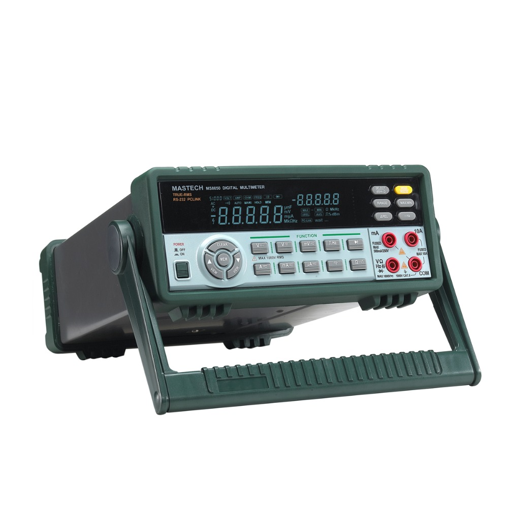 MASTECH MS8050 53000 Counts High Acuracy VFD Display Autoranging Bench Top Multimeter High Accuracy True RMS RS232C