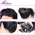 360 fechamento de renda frontal malaio 7a onda do corpo do cabelo virgem lace closure personalizado lace frontal com o cabelo do bebê