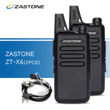 2 шт. Zastone ZT-X6 Портативный Портативной Рации Пара UHF 400-470 МГц 2 пути Ham Радио CB Приемопередатчик рации + Пара Гарнитуры