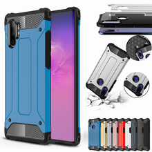 Luxury Armor Case For Samsung Galaxy Note 10 Plus S7 EDGE S8 S9 S10 5G A10 S A20 E A30 A40 A50 A70 M30 Hybrid Hard Rubber Cover