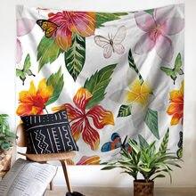JaneYU  New Customized Summer Sea Plant Home Tapestry Wall Hanging Beach Towel Marine Plants Printed Blanket