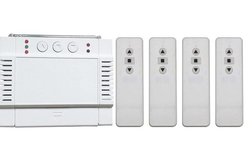 цена на AC220V 250V 380V 2CH RF Wireless Remote Control Receiver+Transmitter shutters tubular motor garage door projection screen blinds