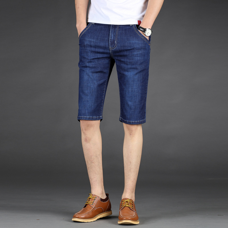 Jeans Straight Bermuda Clothing Short Blue Male Denim Retro Plus-Size 28-46 Brand