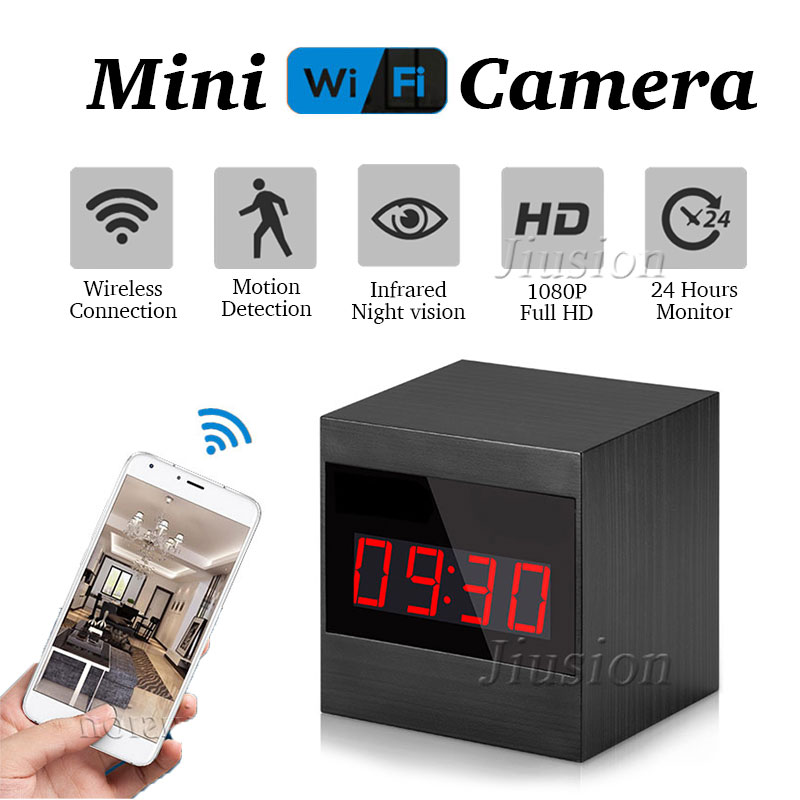 $39.98 | Wifi MiNi Camera Surveillance Cam Clock Night Vision Motion Detection Webcam Security Espia Recorder for iPhone Android