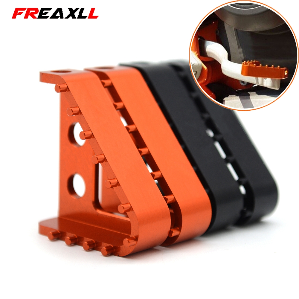 Motorcycle CNC Billet Aluminum Rear Brake Pedal Step Tips For KTM 990 SMT ADV S R Supermoto Enduro R DUKE SMC SMC R EXCF EXCW in Covers Ornamental Mouldings from Automobiles Motorcycles