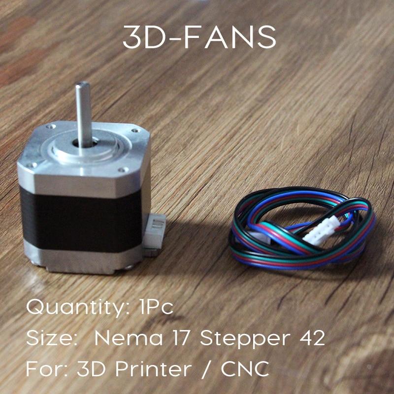 1 unids 3D impresora Motores NEMA 17 Motores paso a paso-CE certificatio 4 Plomo 42 Motores 42 bygh 1.5a