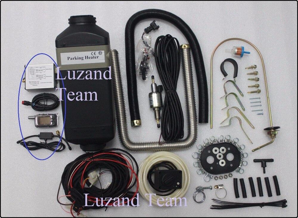 Envío gratis (2kw 12V Air Diesel Calefactor + CONTROL REMOTO + - Electrónica del Automóvil - foto 2