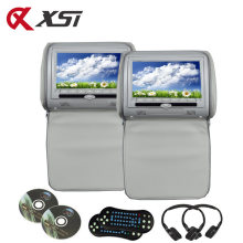 Xst 2 Pcs 7 Inch Monitor Sandaran Kepala Mobil MP5 DVD Video Player Digital TFT LCD Layar dengan USB/SD /IR/FM/Speaker/Permainan Remote Control(China)